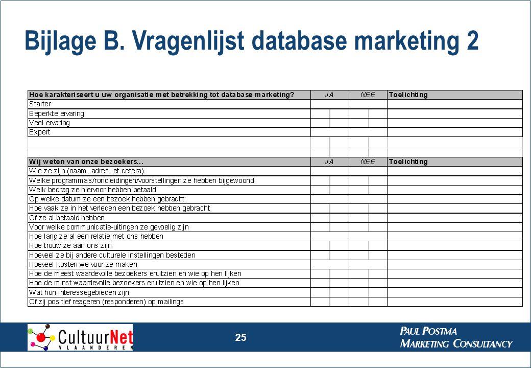 Bijlage B. Vragenlijst database marketing 2