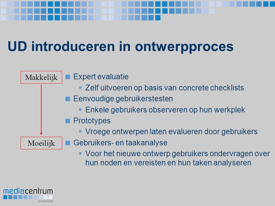 UD introduceren in ontwerpproces
