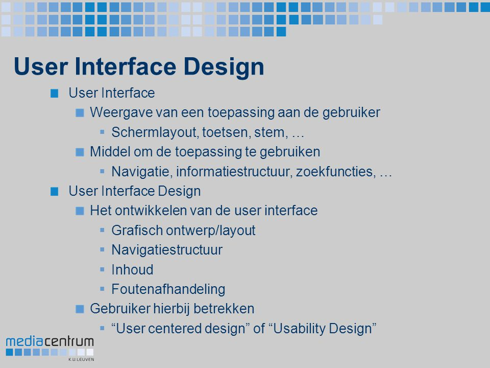 User Interface Design User Interface