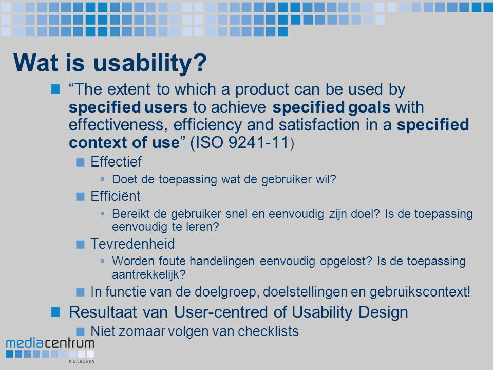 Wat is usability