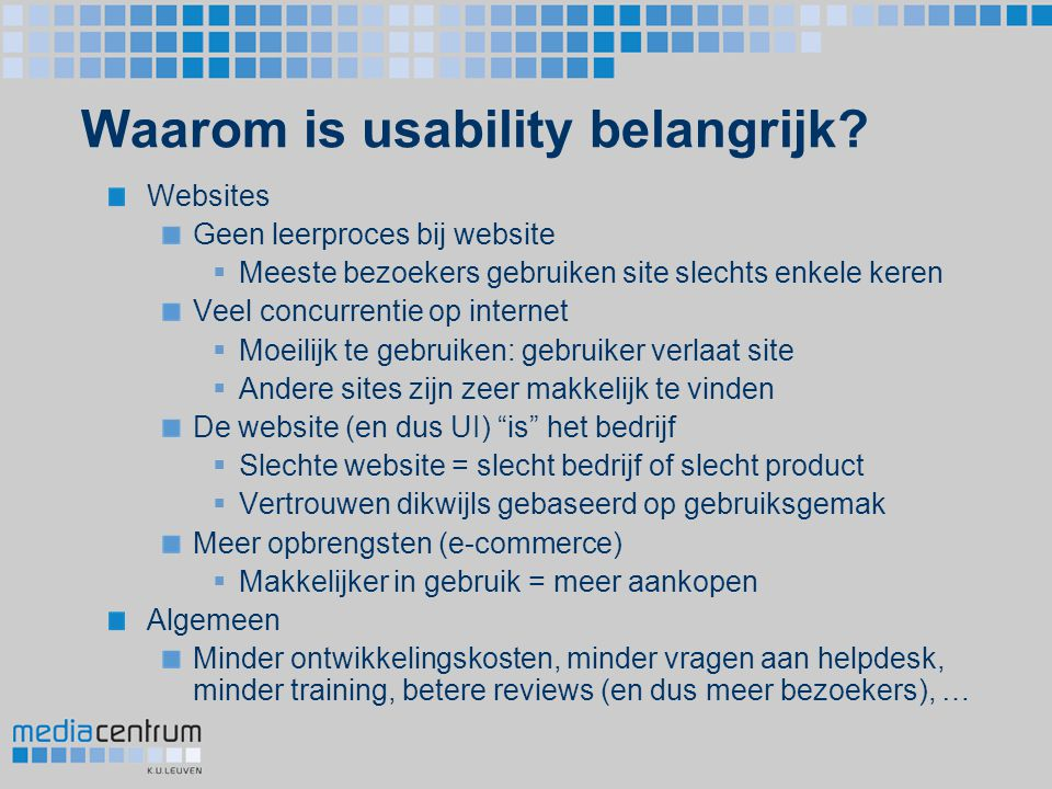 Waarom is usability belangrijk