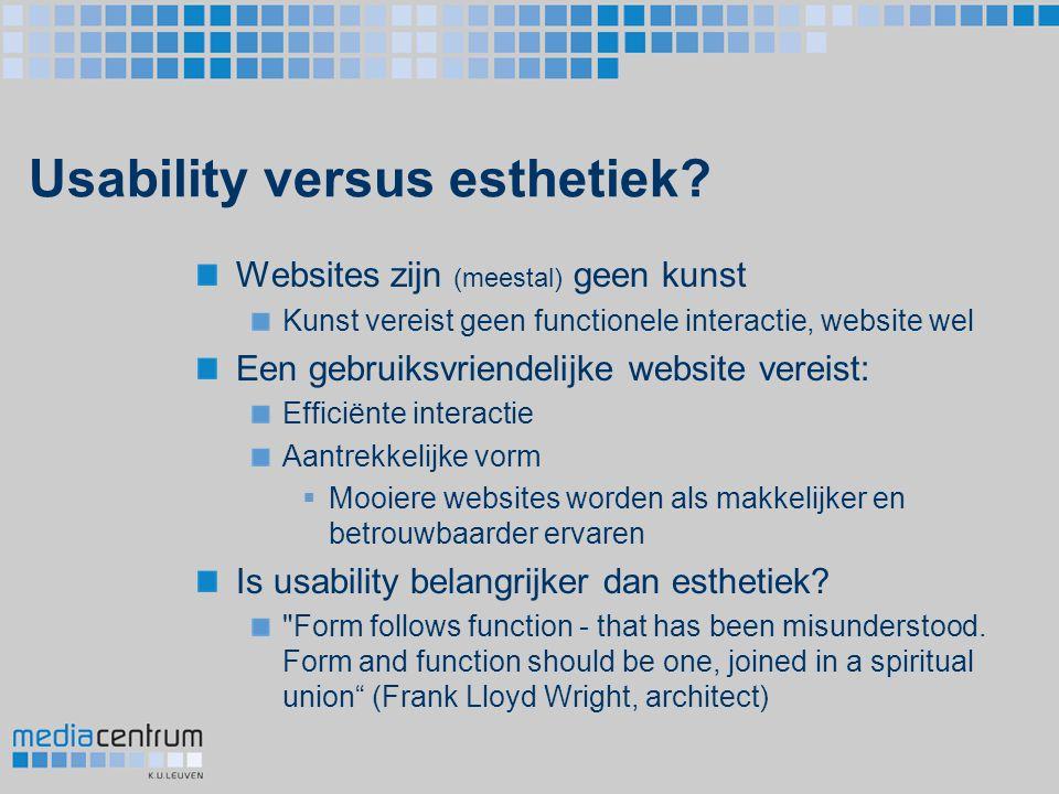 Usability versus esthetiek