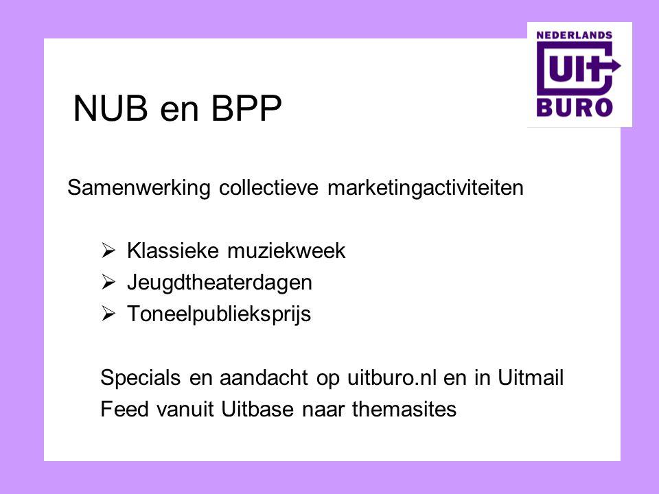 NUB en BPP Samenwerking collectieve marketingactiviteiten