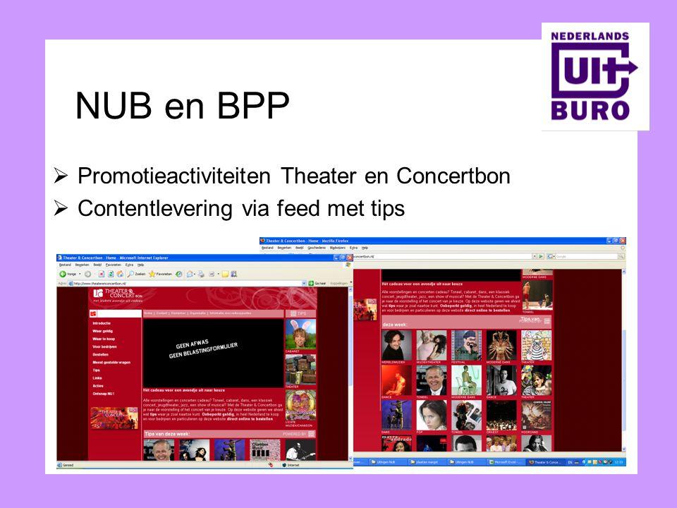 NUB en BPP Promotieactiviteiten Theater en Concertbon