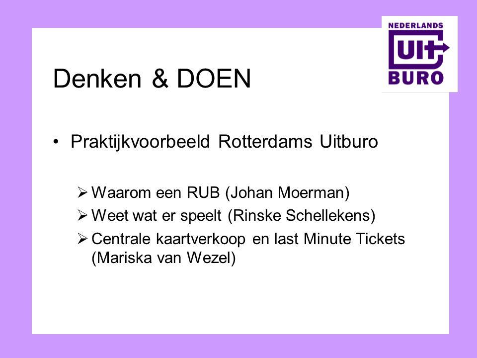 Denken & DOEN Praktijkvoorbeeld Rotterdams Uitburo