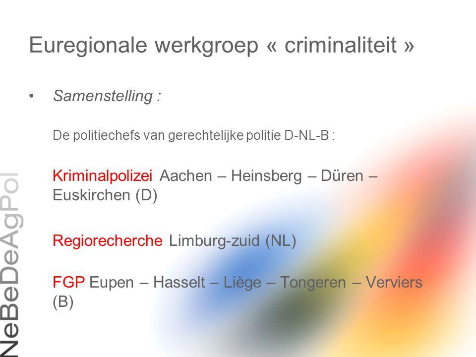 Euregionale werkgroep « criminaliteit »