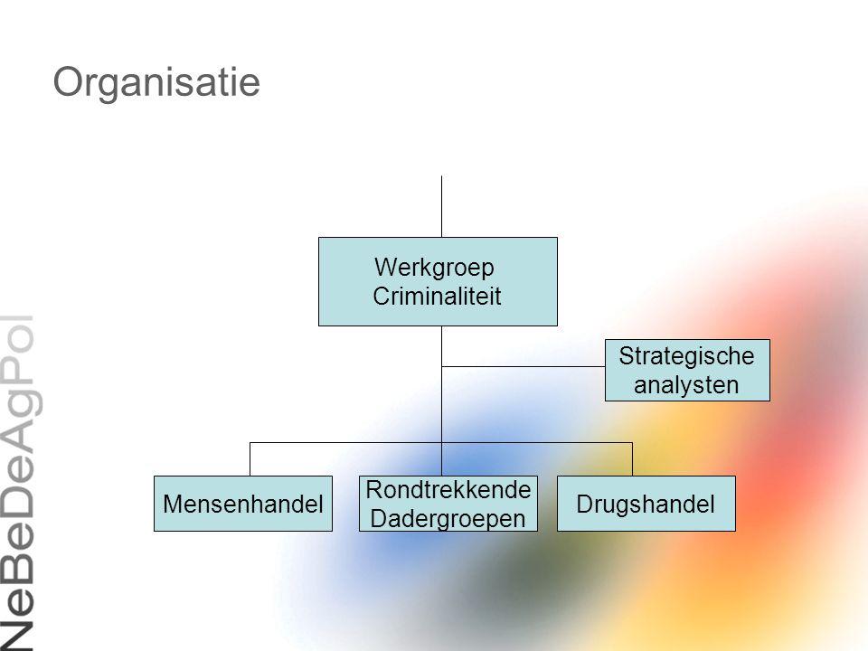 Organisatie Werkgroep Criminaliteit Strategische analysten