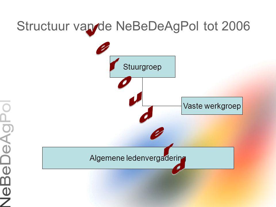 Structuur van de NeBeDeAgPol tot 2006