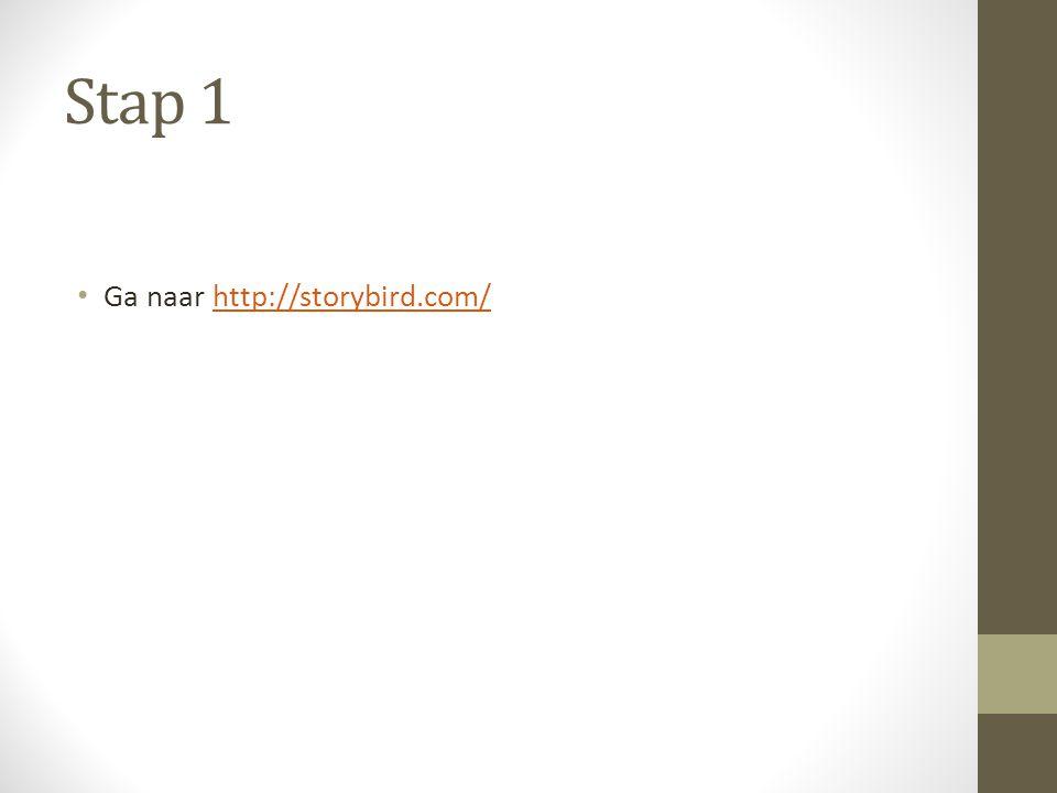 Stap 1 Ga naar http://storybird.com/