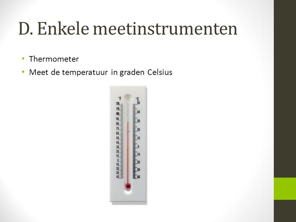 D. Enkele meetinstrumenten