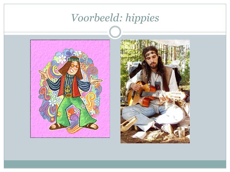 Voorbeeld: hippies