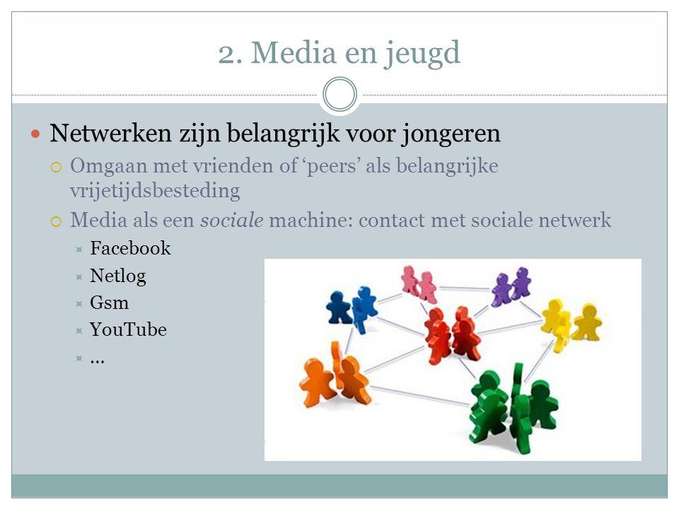 2. Media en jeugd Netwerken zijn belangrijk voor jongeren
