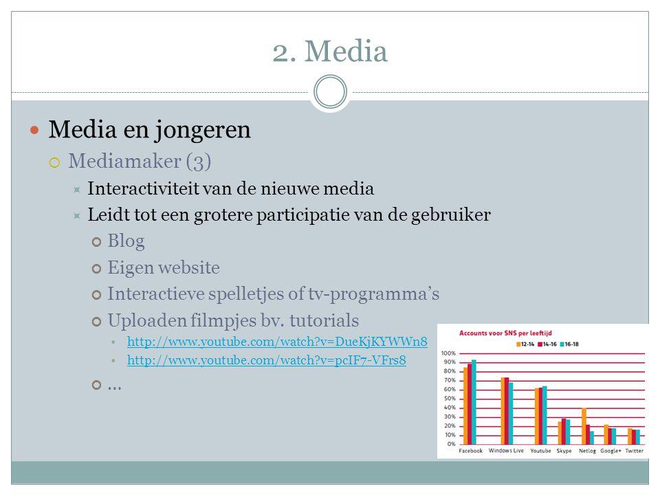 2. Media Media en jongeren Mediamaker (3)