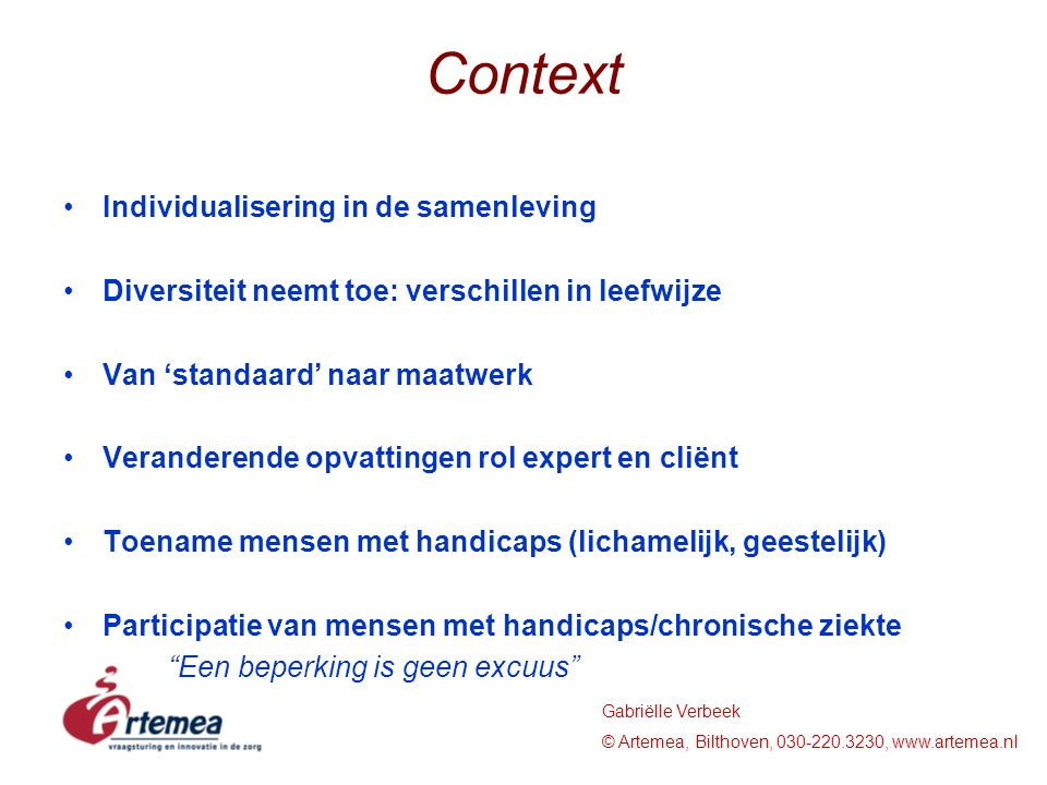 Context Individualisering in de samenleving