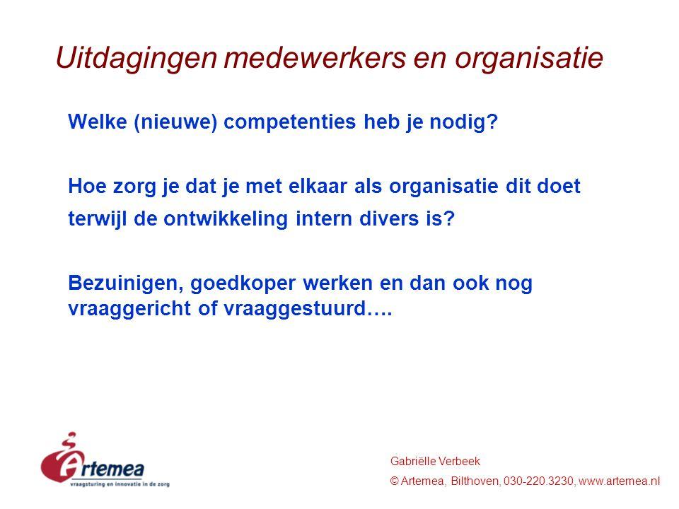 Uitdagingen medewerkers en organisatie