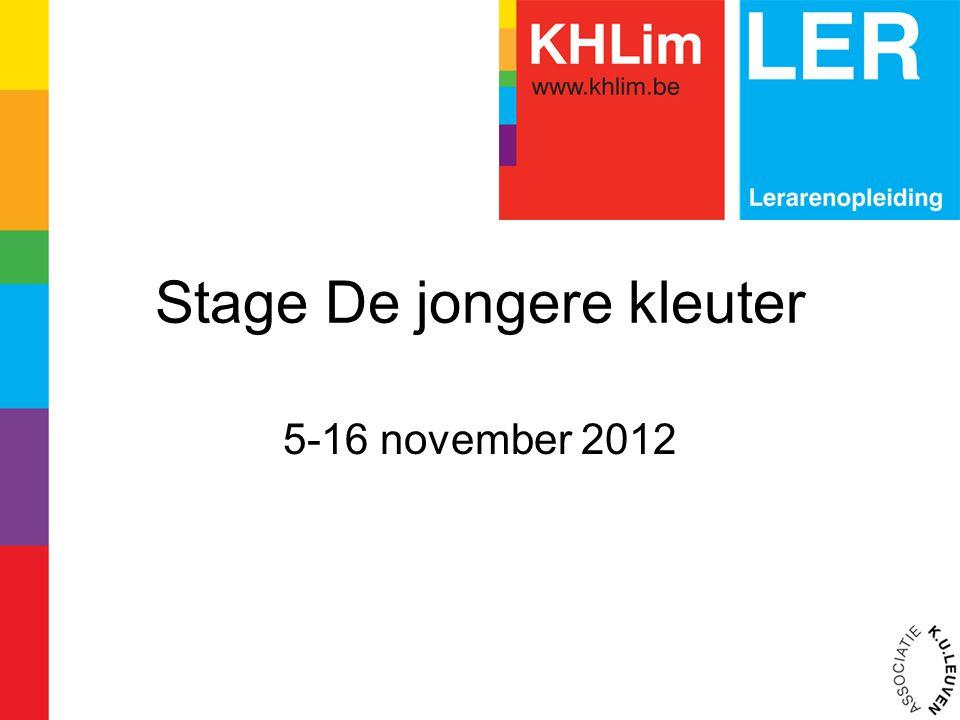 Stage De jongere kleuter