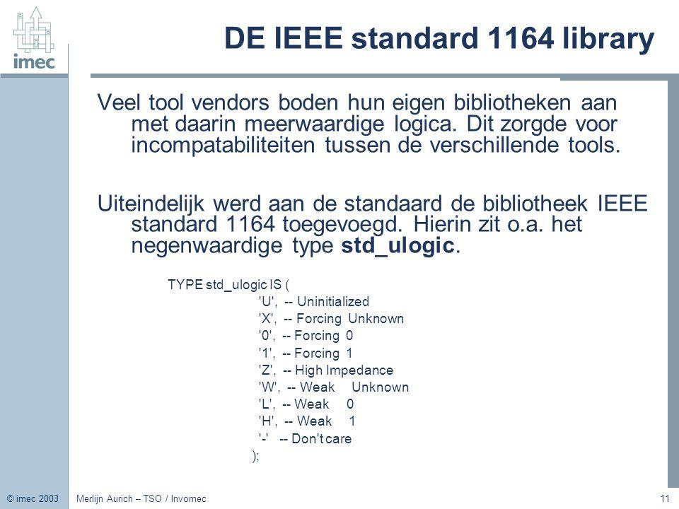 DE IEEE standard 1164 library