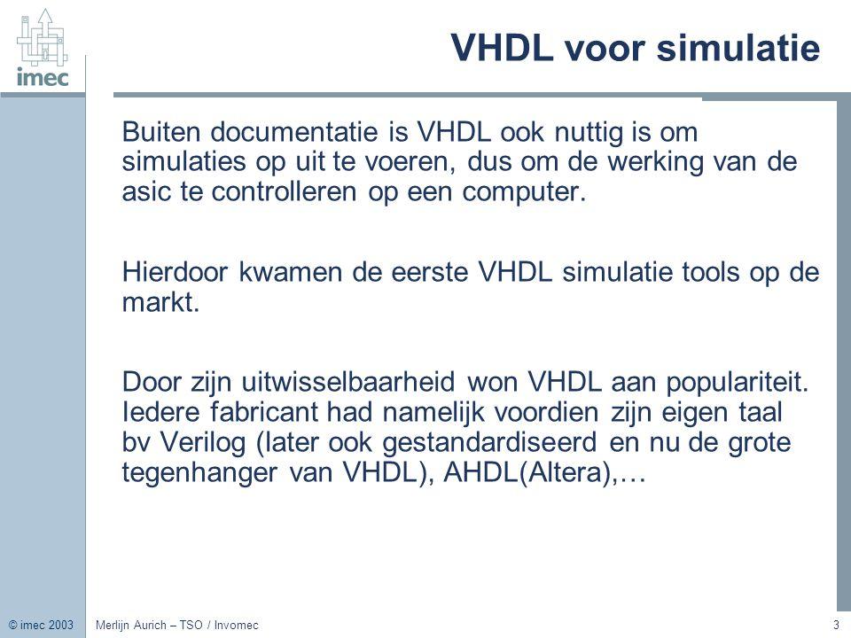 VHDL voor simulatie