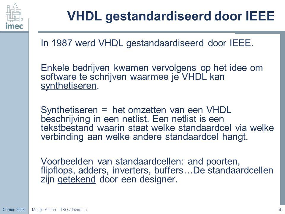 VHDL gestandardiseerd door IEEE