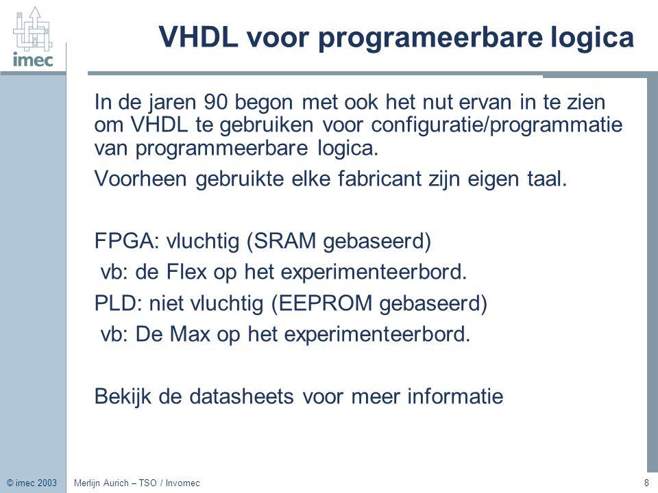 VHDL voor programeerbare logica
