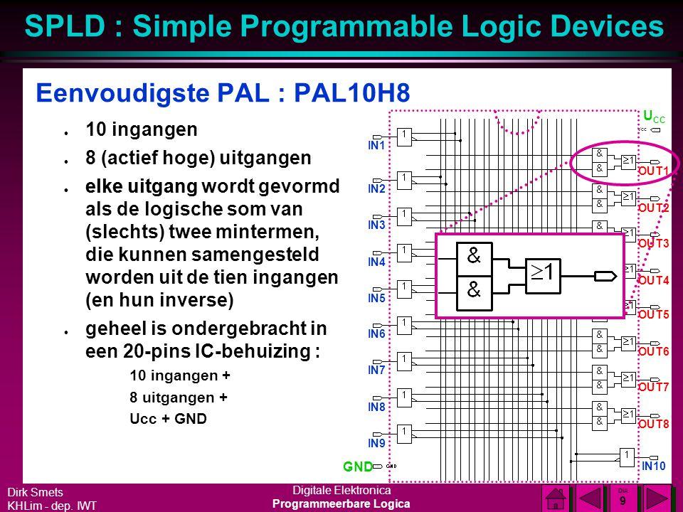 Eenvoudigste PAL : PAL10H8
