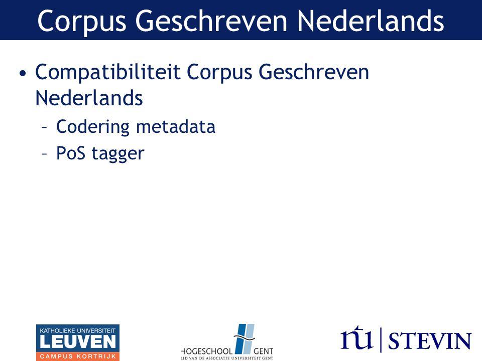 Corpus Geschreven Nederlands
