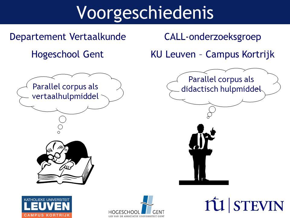 Voorgeschiedenis Departement Vertaalkunde Hogeschool Gent