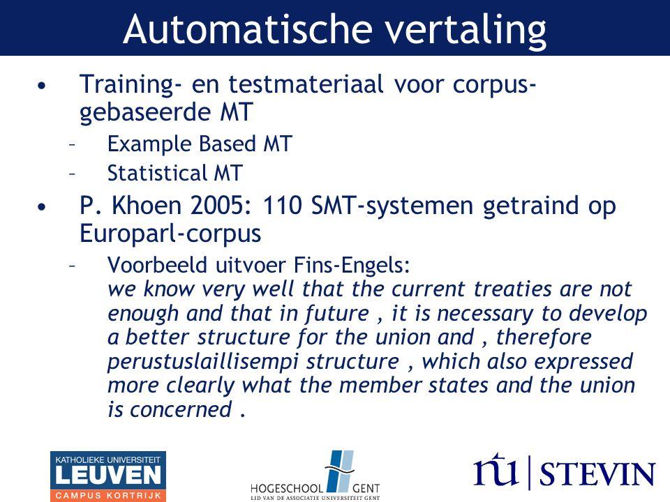 Automatische vertaling