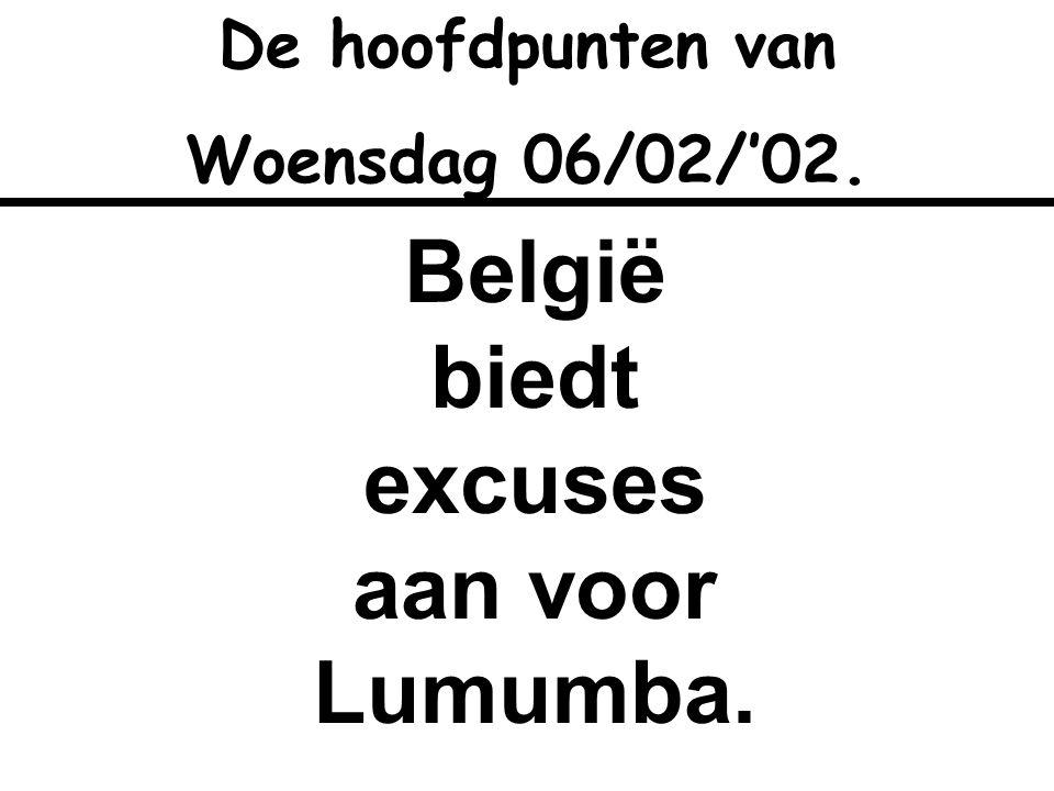 België biedt excuses aan voor Lumumba.