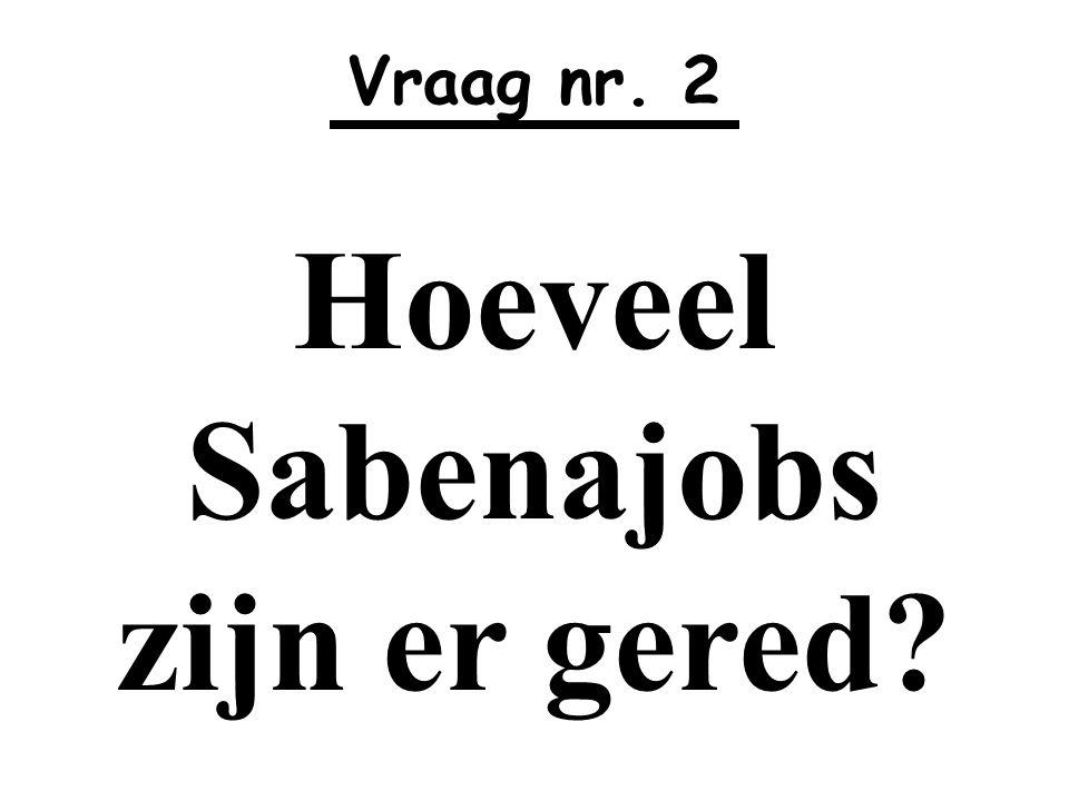 Hoeveel Sabenajobs zijn er gered
