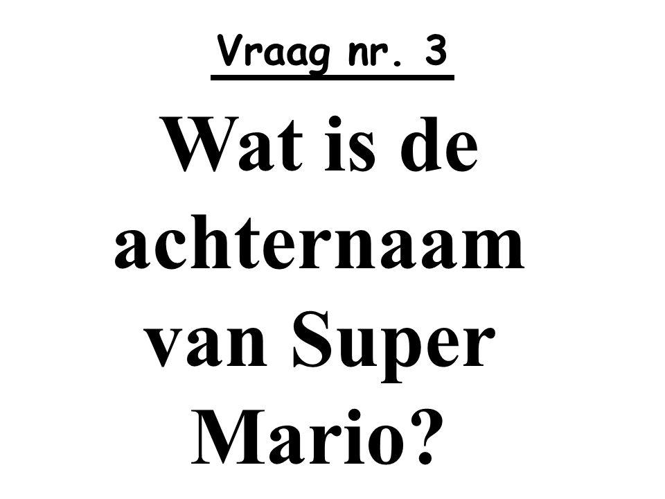 Wat is de achternaam van Super Mario