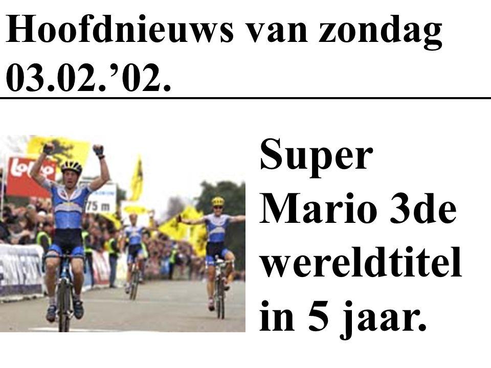 Super Mario 3de wereldtitel in 5 jaar.