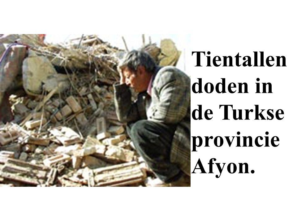 Tientallen doden in de Turkse provincie Afyon.