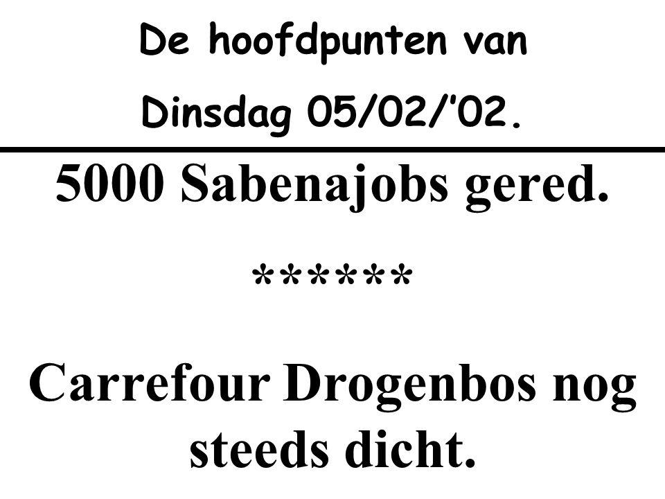 Carrefour Drogenbos nog steeds dicht.