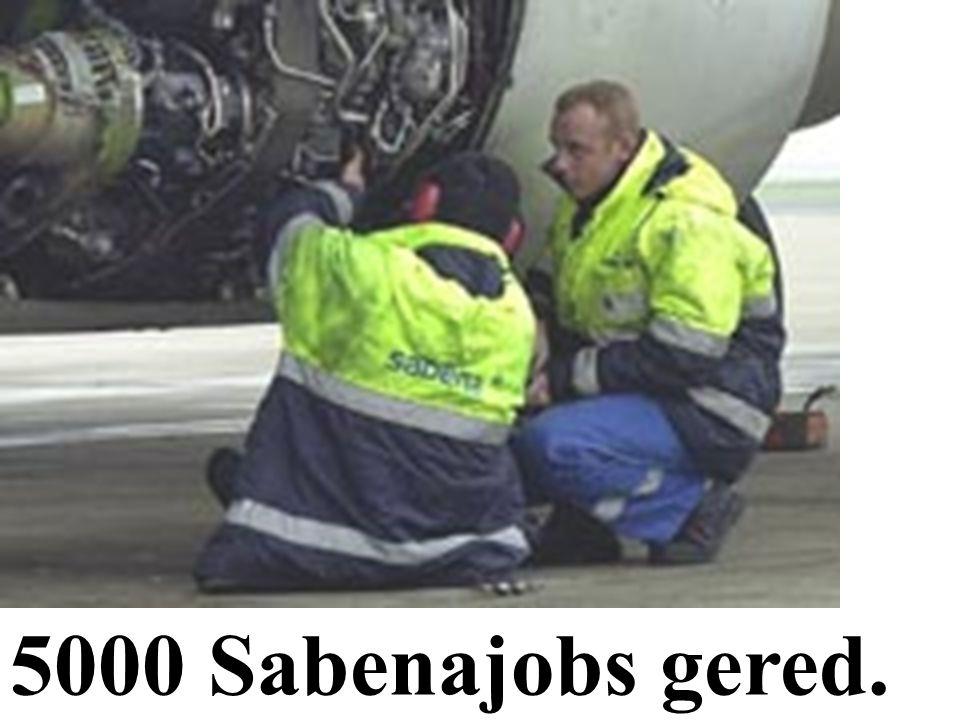 5000 Sabenajobs gered.