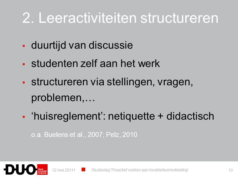 2. Leeractiviteiten structureren