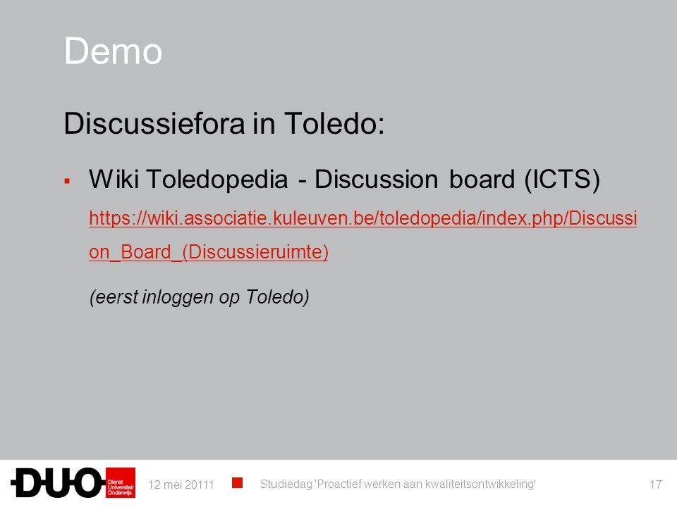 Demo Discussiefora in Toledo: