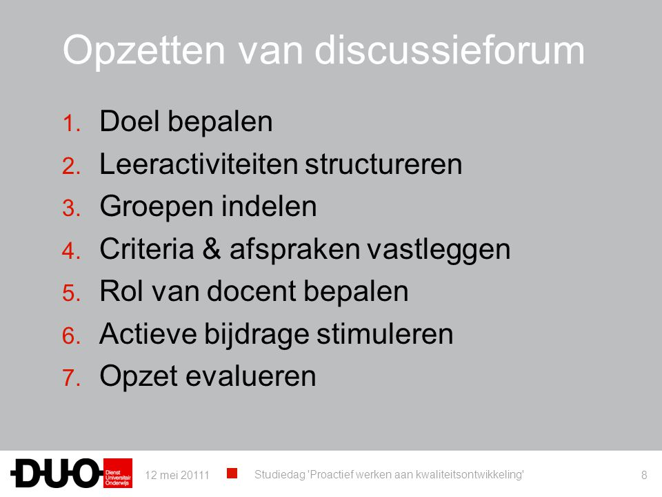 Opzetten van discussieforum