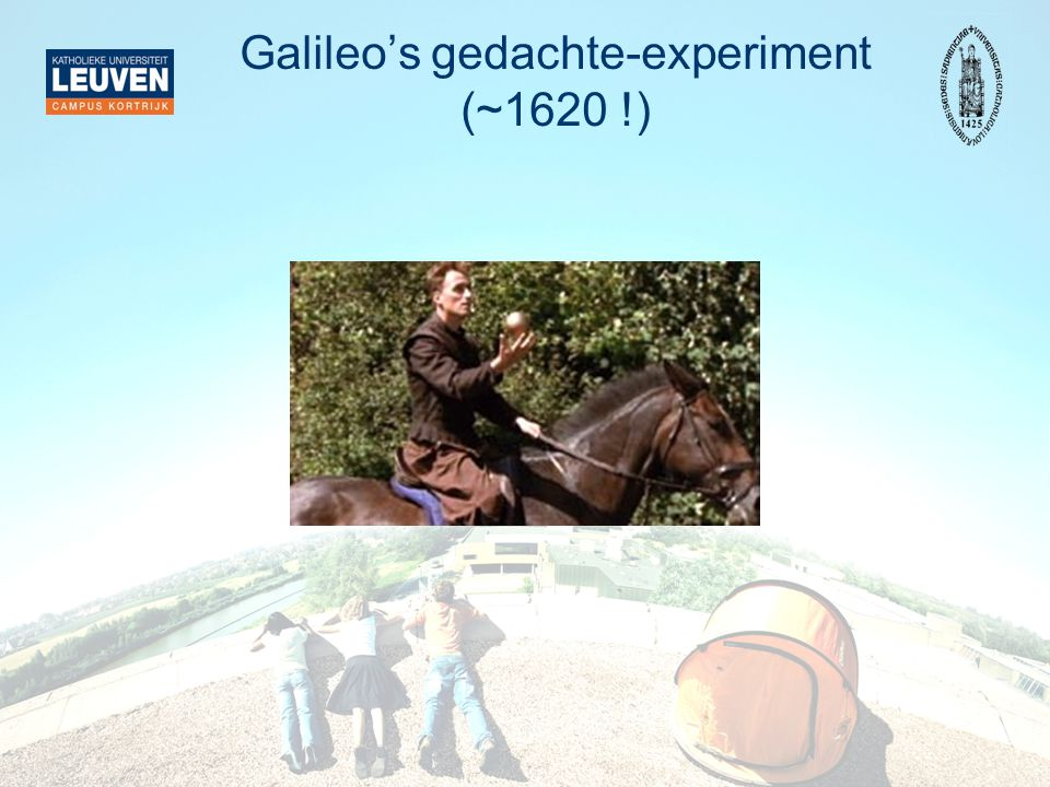 Galileo's gedachte-experiment (~1620 !)