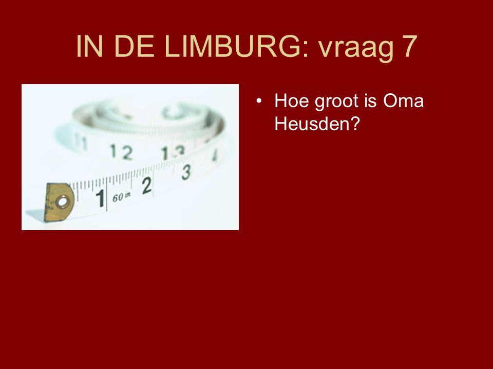 IN DE LIMBURG: vraag 7 Hoe groot is Oma Heusden