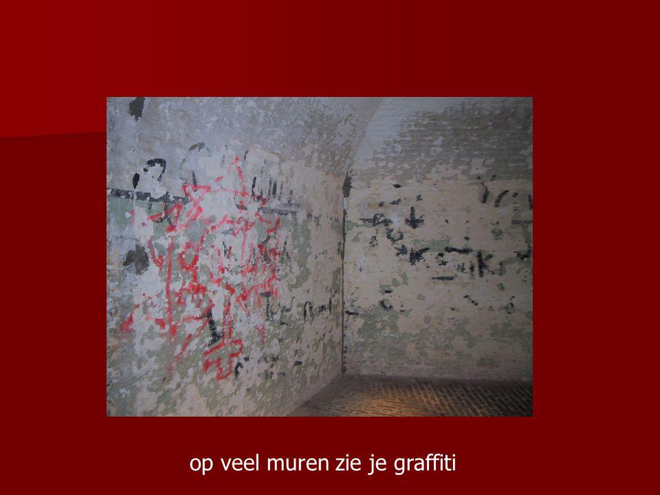 op veel muren zie je graffiti