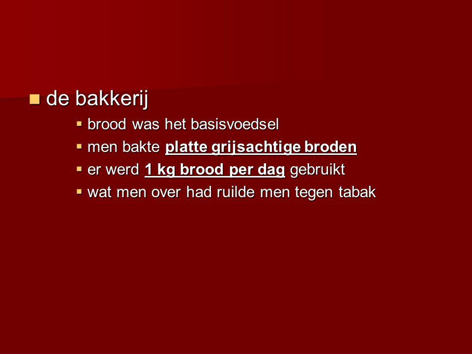 de bakkerij brood was het basisvoedsel
