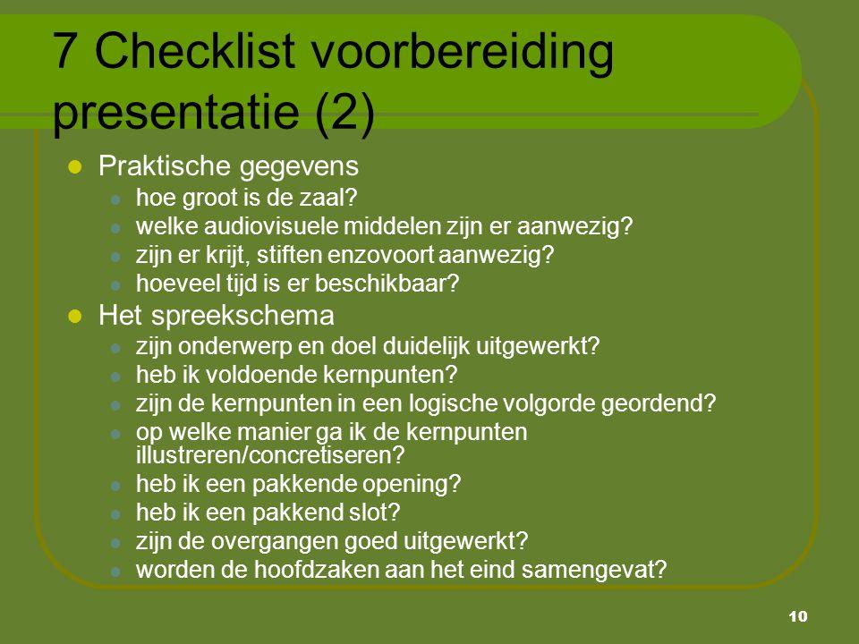 7 Checklist voorbereiding presentatie (2)