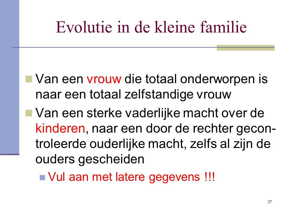 Evolutie in de kleine familie