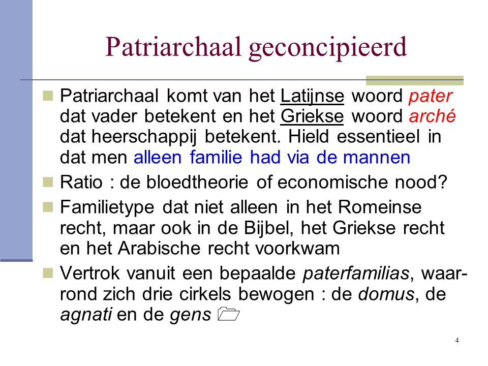 Patriarchaal geconcipieerd