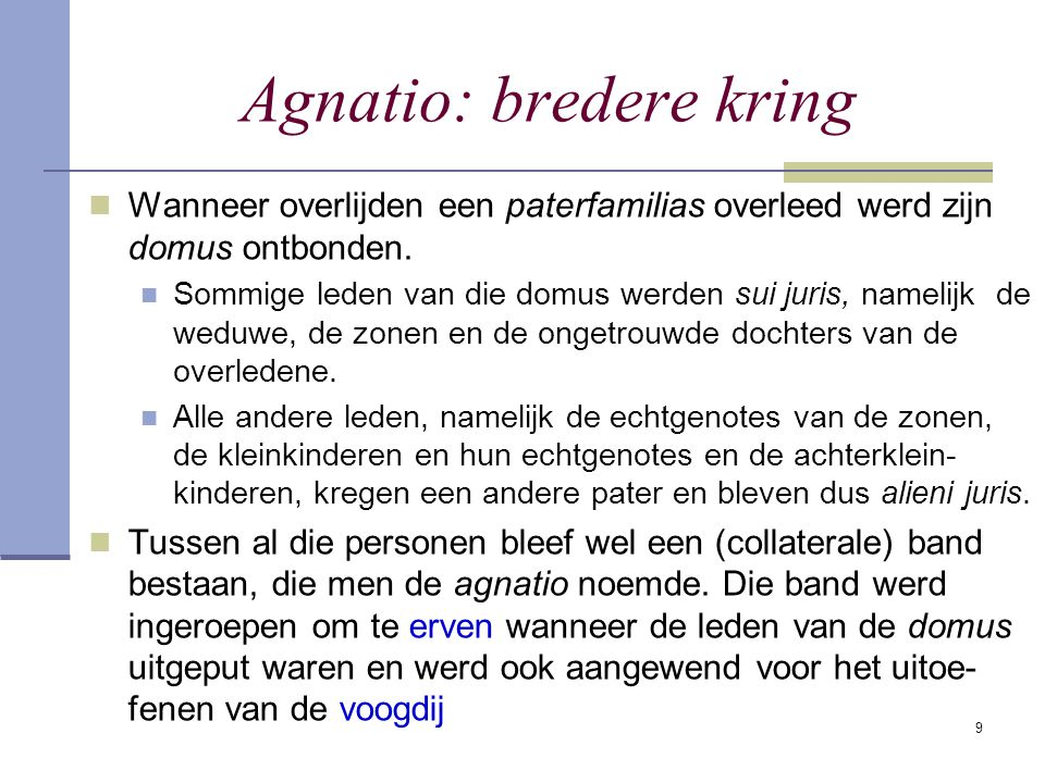 Agnatio: bredere kring