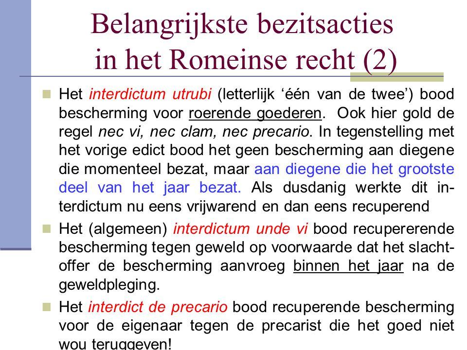 Belangrijkste bezitsacties in het Romeinse recht (2)