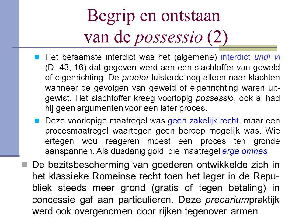 Begrip en ontstaan van de possessio (2)
