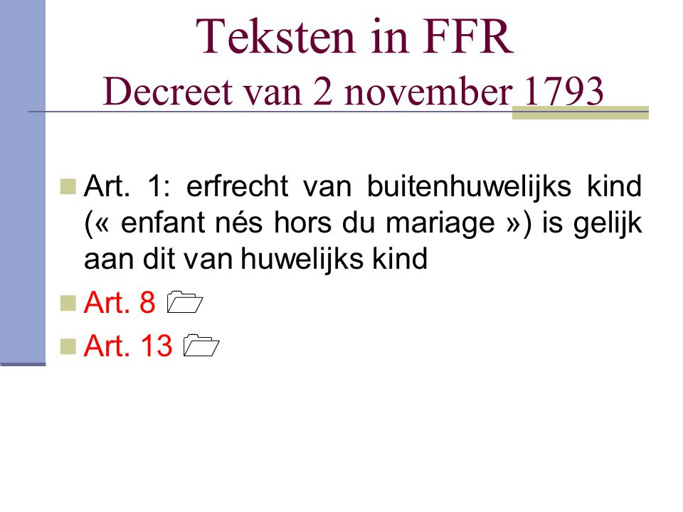 Teksten in FFR Decreet van 2 november 1793