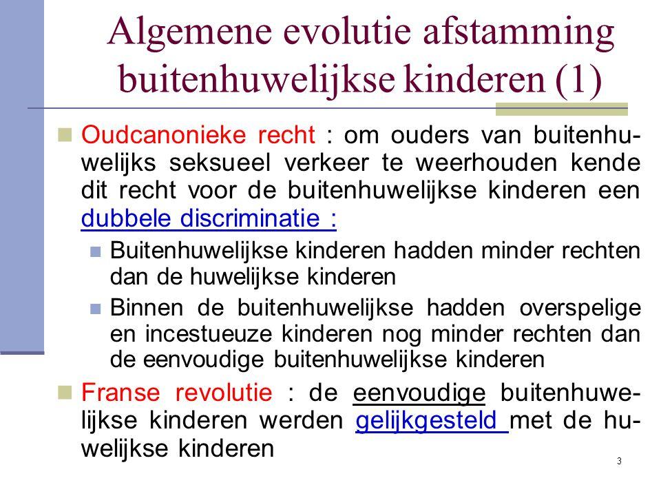 Algemene evolutie afstamming buitenhuwelijkse kinderen (1)